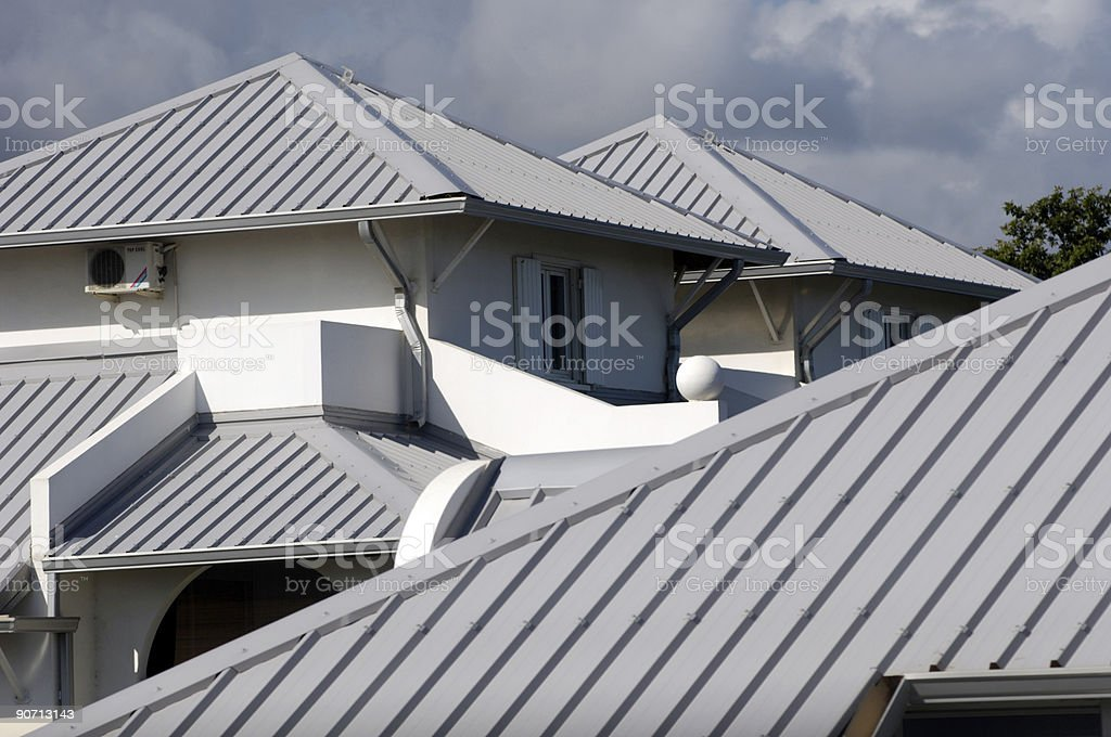 home's roof stock photo