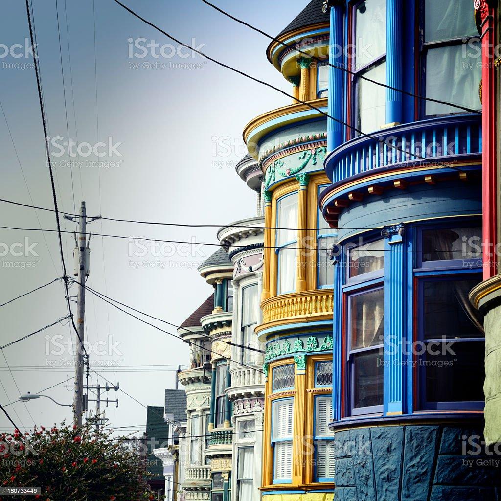 Homes, San Francisco royalty-free stock photo