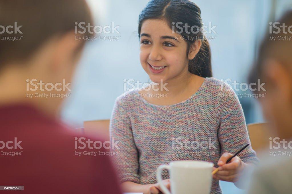 Homeschooling Meet Up stock photo