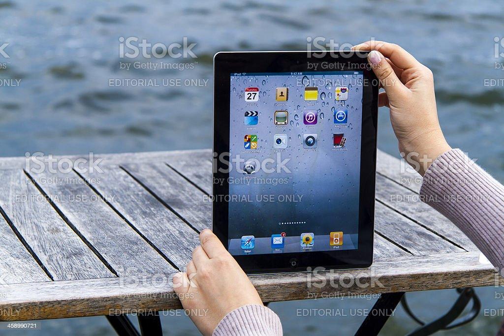 Homescreen on Apple iPad royalty-free stock photo