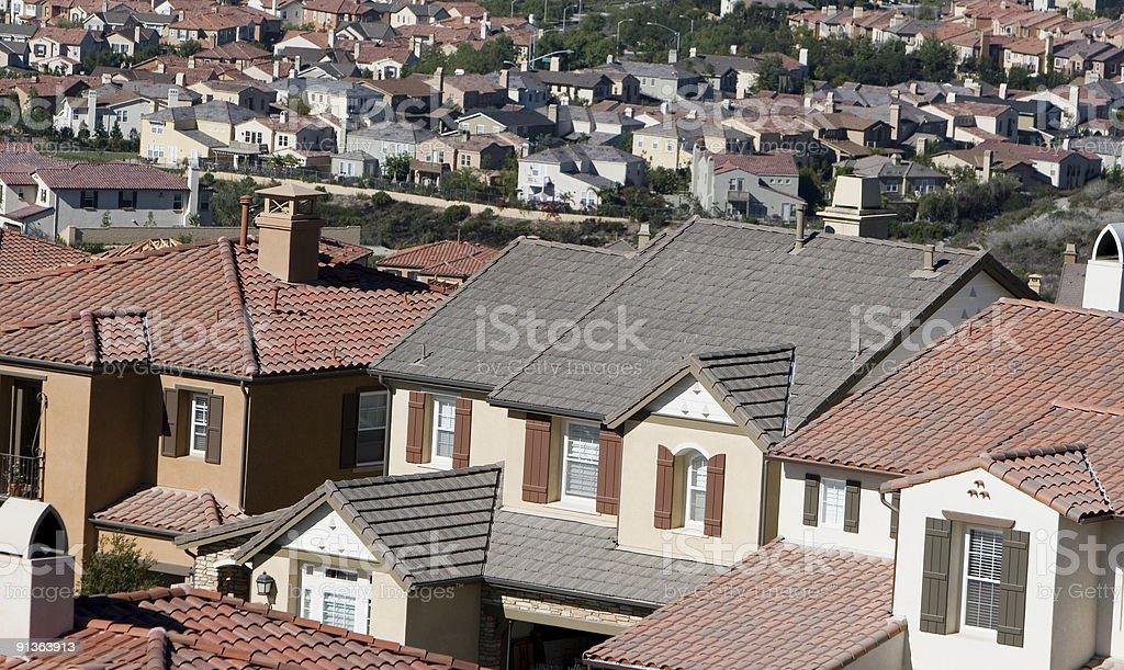 homes-Orange County stock photo