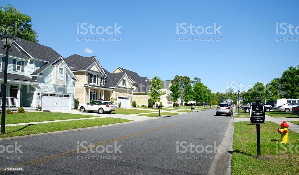Homes,Savannah stock photo