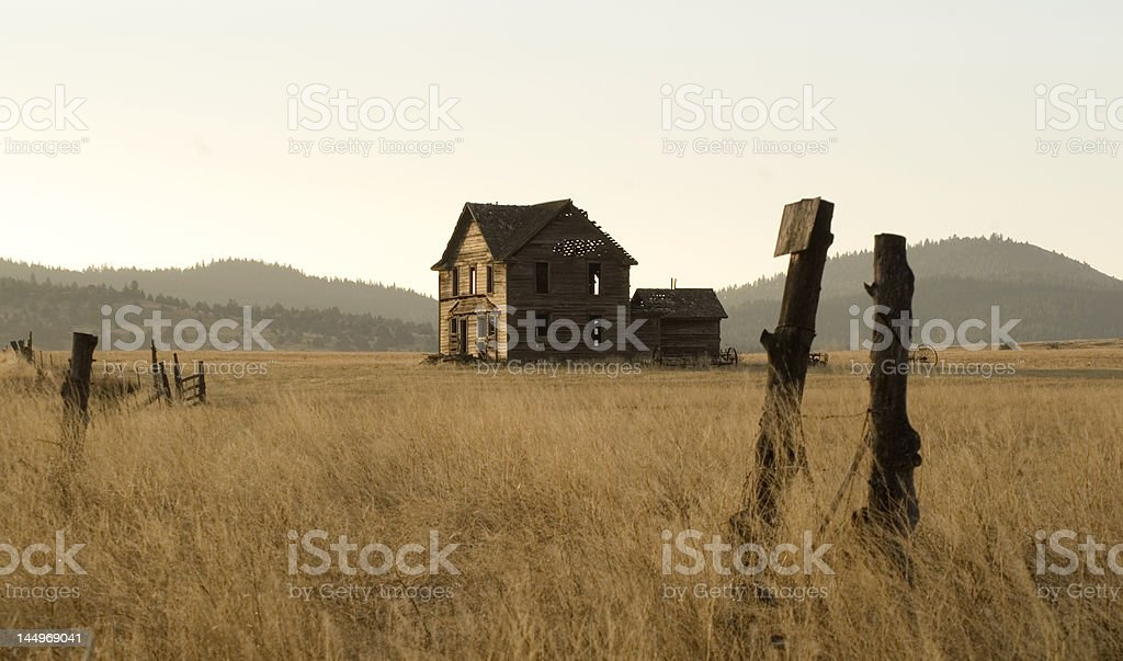 Homestead abandoned royalty-free stock photo