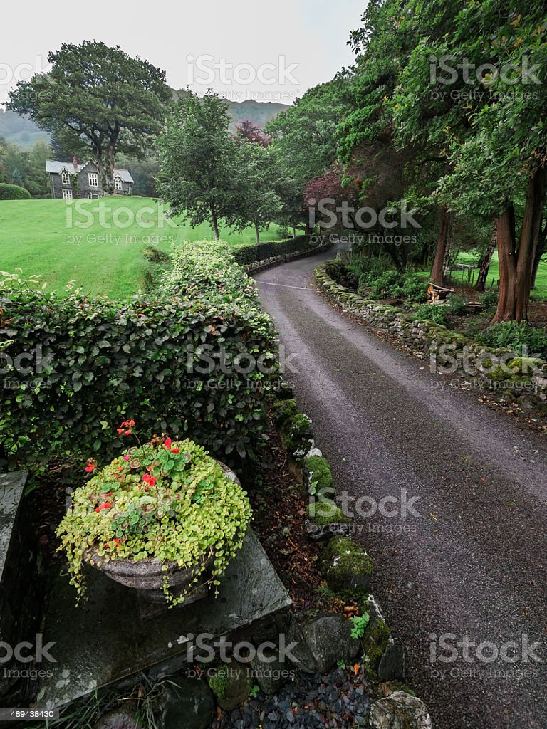 Homestead in the Lake District, England stock photo