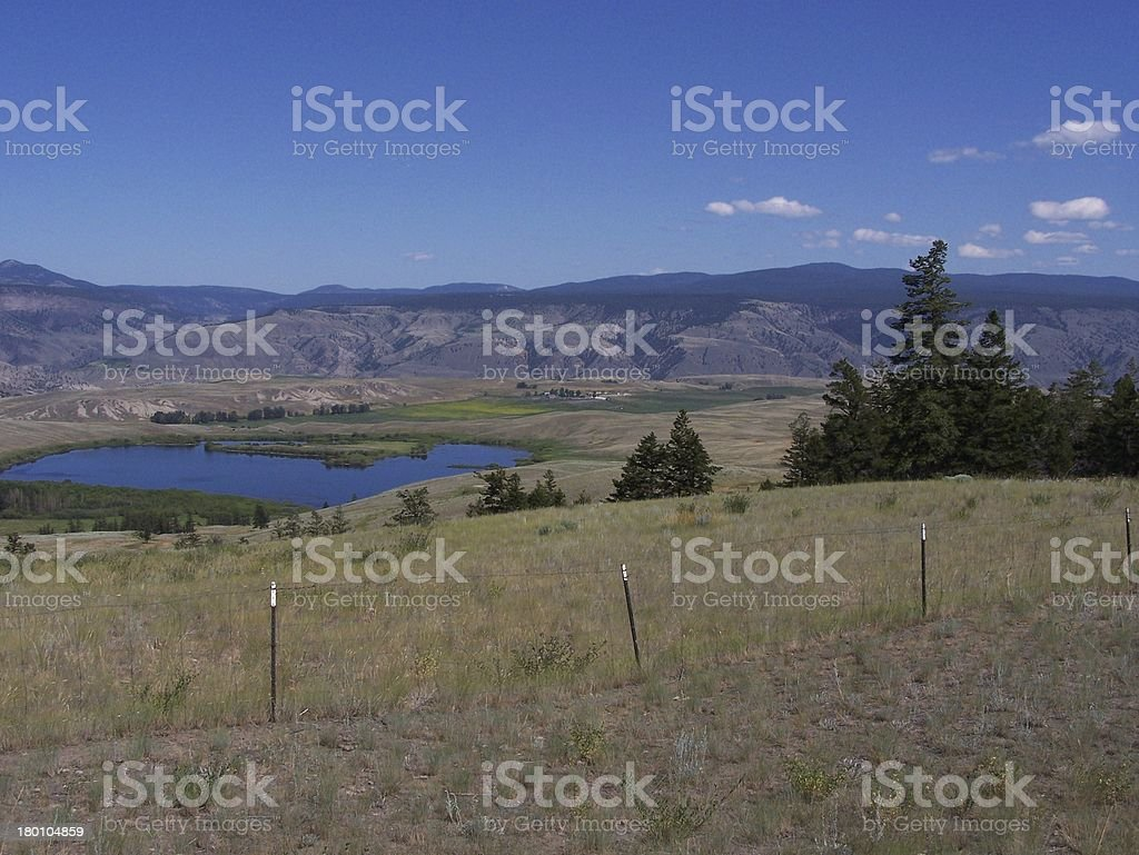 Homestead in the ranch lands royalty-free stock photo