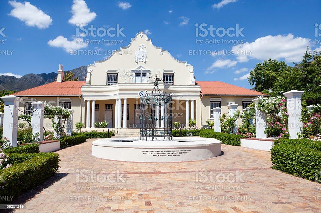 Homestead of Arthur MC William Smith, Franschhoek stock photo