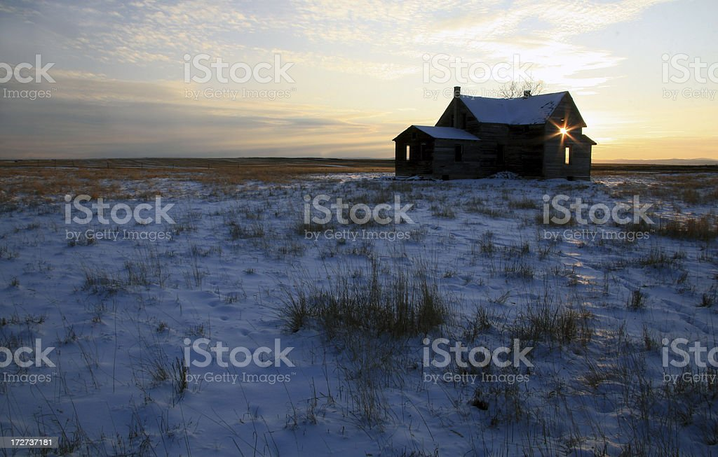 Homestead on the Plains royalty-free stock photo