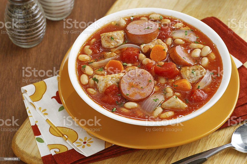 Homestyle Cassoulet Soup royalty-free stock photo