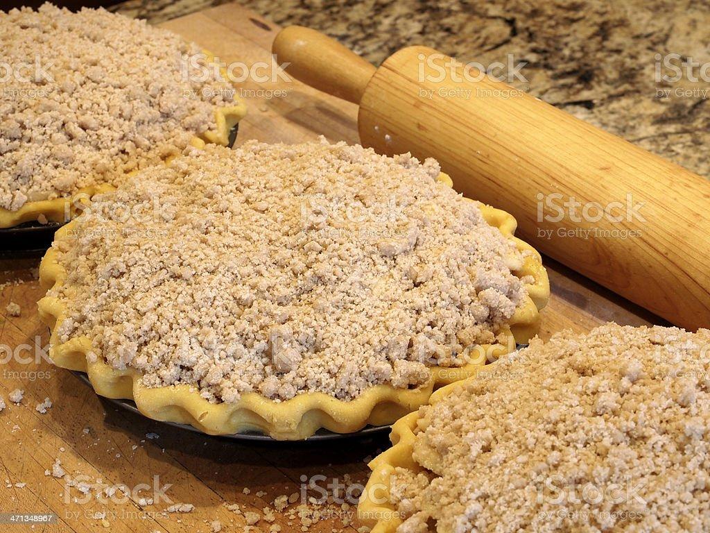 Homestyle Crumb Top Pie stock photo