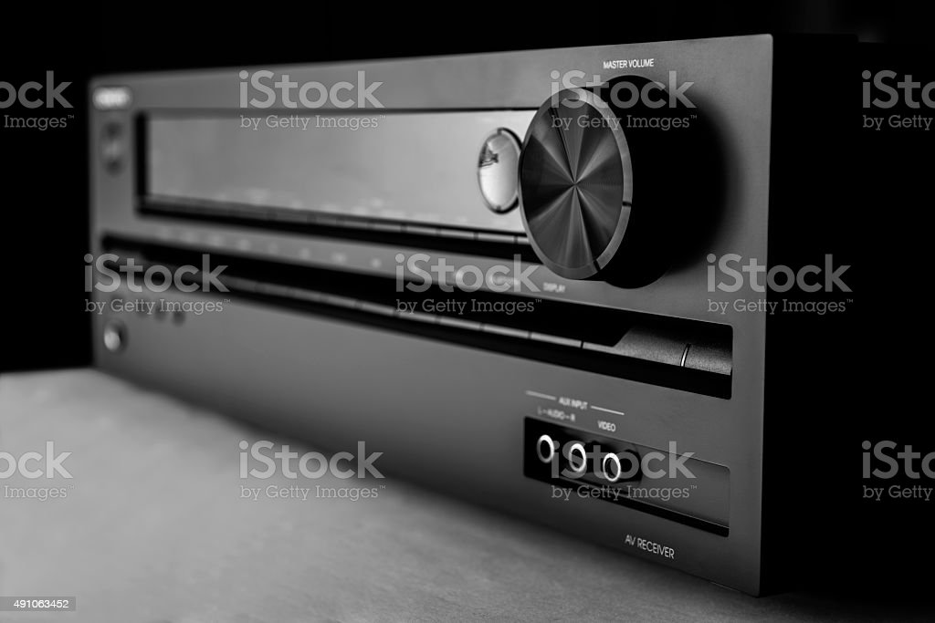 Home-theater amplifier stock photo