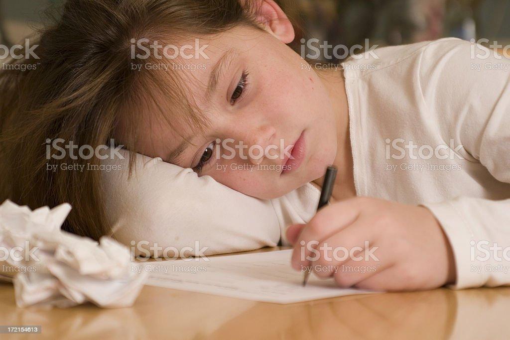 Homework- Determined royalty-free stock photo