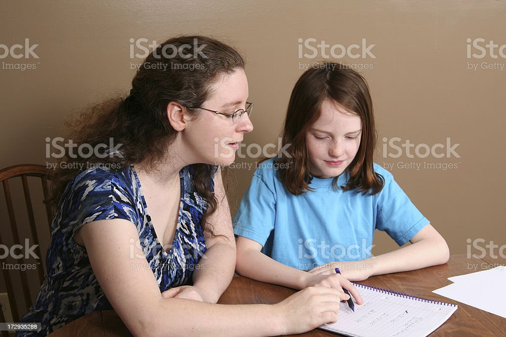 Homework Help royalty-free stock photo