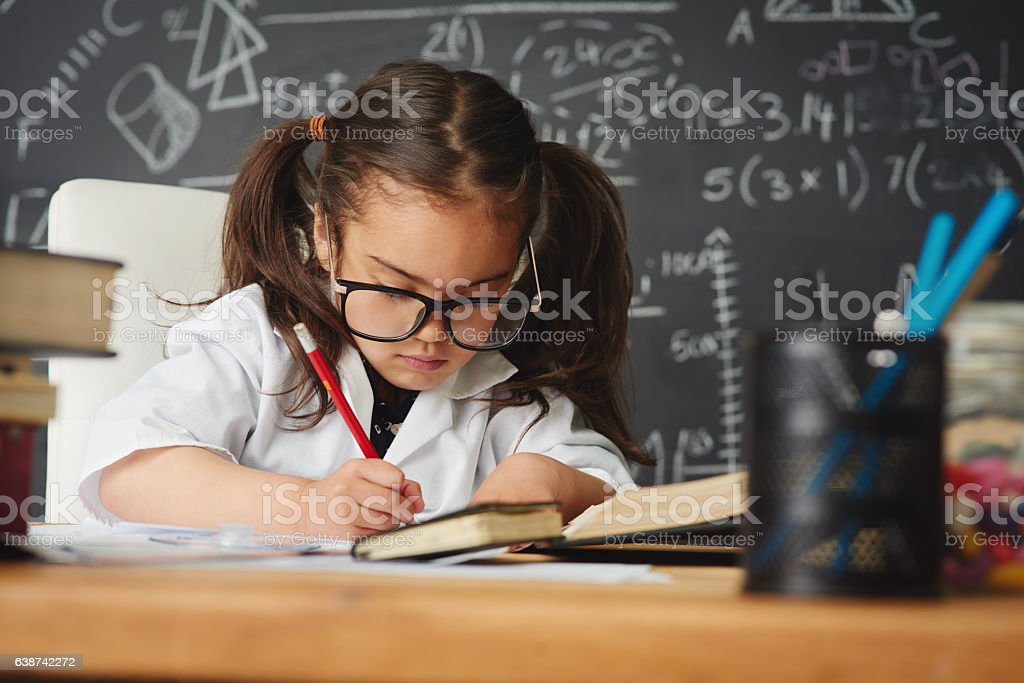 Homework is actually one of my hobbies stock photo