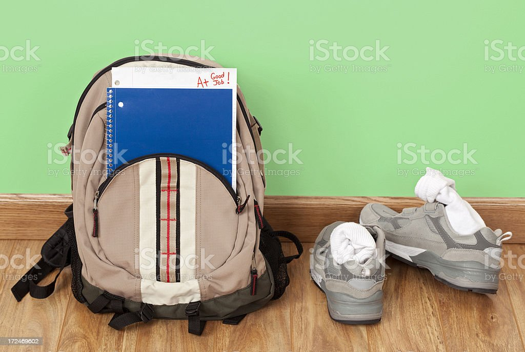 Homework or Test Paper: Good Job and A+ royalty-free stock photo