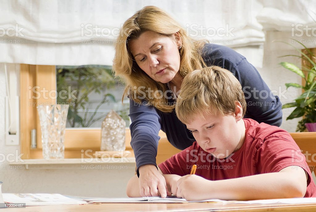 Homework Series royalty-free stock photo