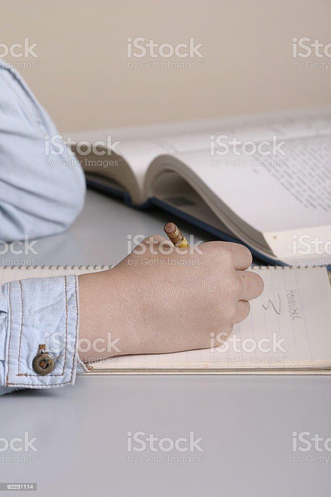 Homework study royalty-free stock photo