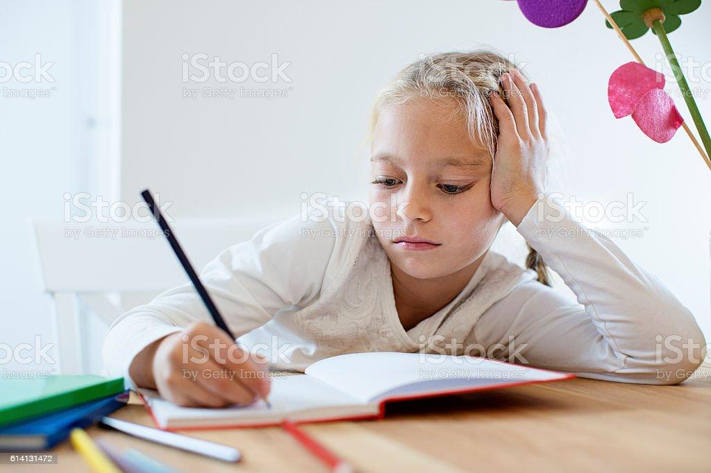 Homework time stock photo