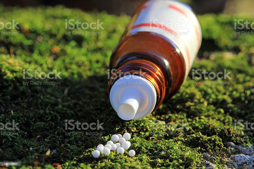 Homoeopathic medicine stock photo