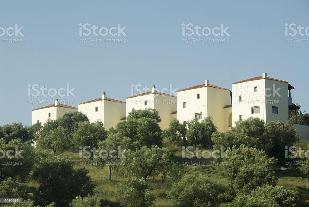 Homogeneous houses royalty-free stock photo