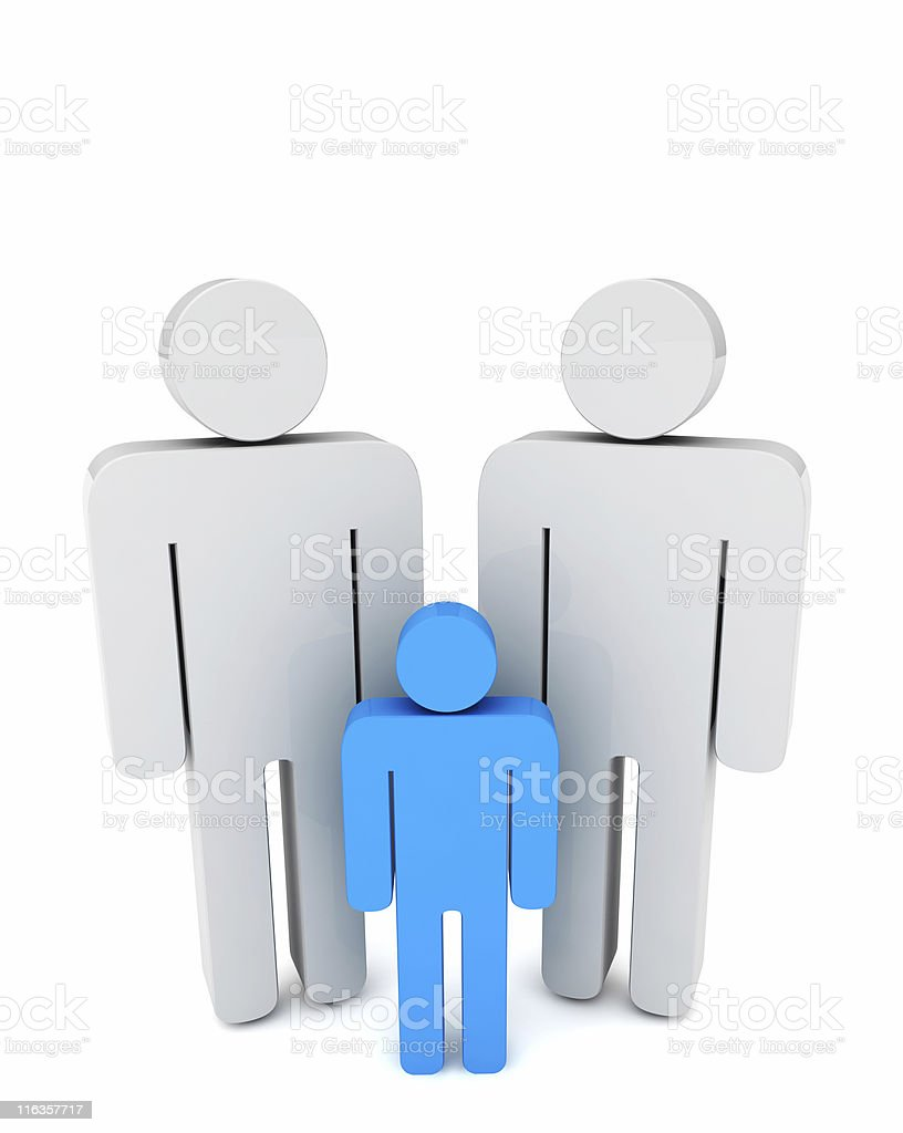 Homosexual Couple with Son royalty-free stock photo