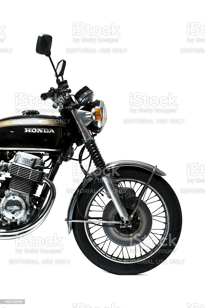 Honda CB 750 Four in studio shoot front side view royalty-free stock photo