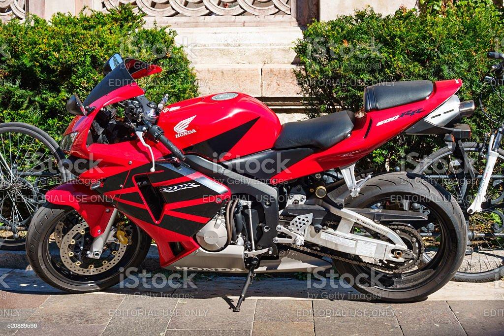 Honda CBR600RR Sport Motorcycle stock photo