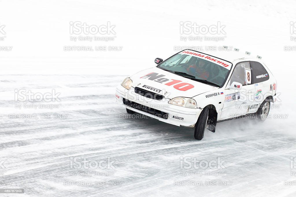 Khabarovsk, Russia - March 7, 2015: Honda Civic racing stock photo