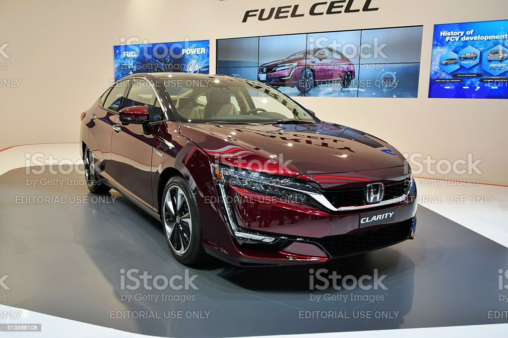 Honda Clarity - fuel cell vehicle stock photo