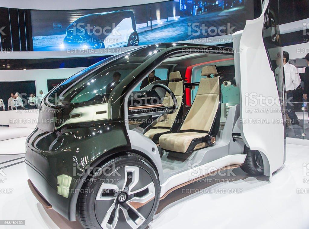 Honda EV at CES 2017 stock photo