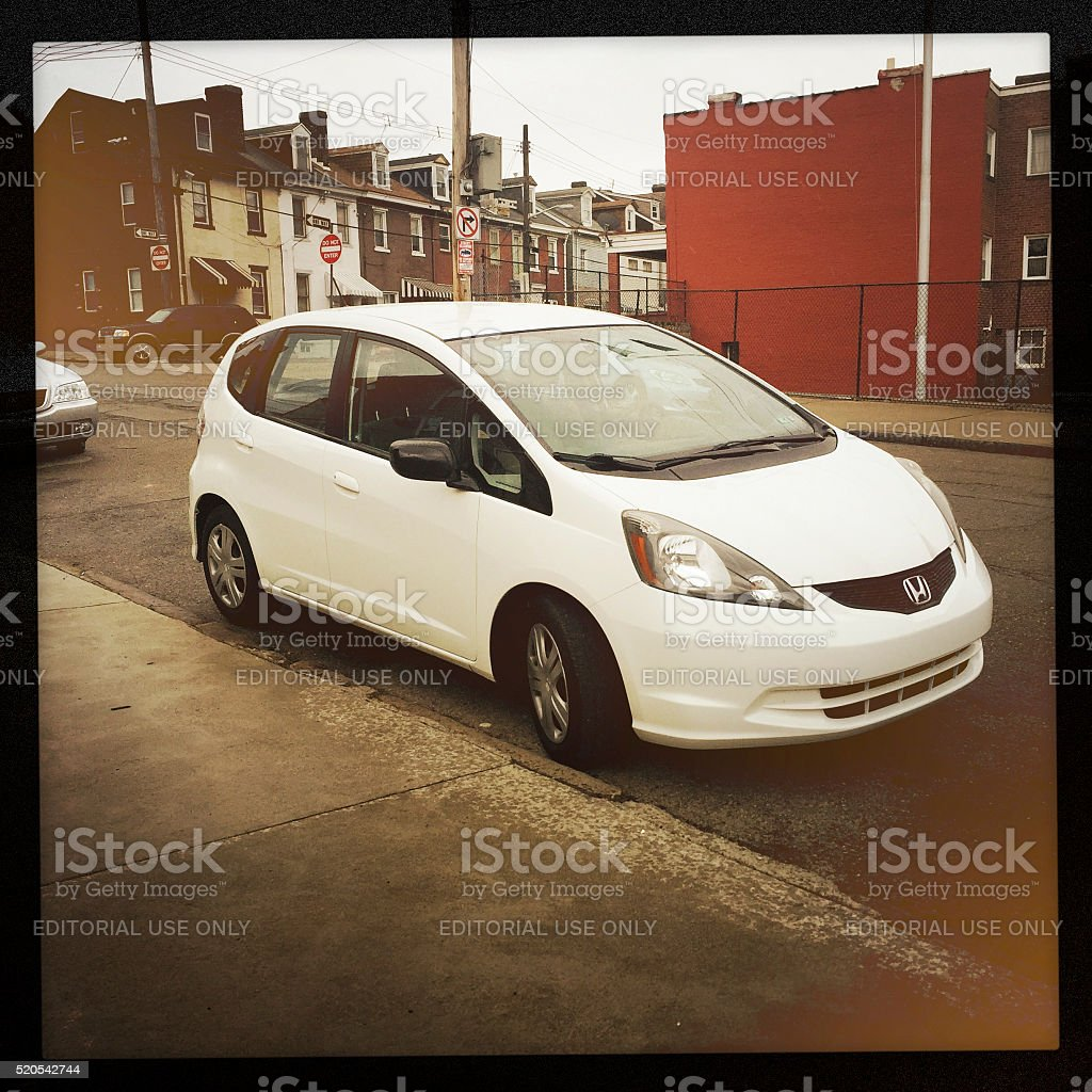 Honda Fit in Pittsburgh stock photo