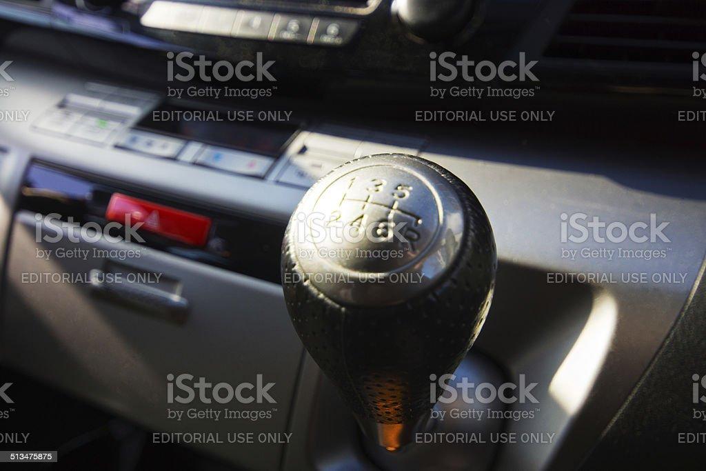 Honda Fr-V dashboard stock photo