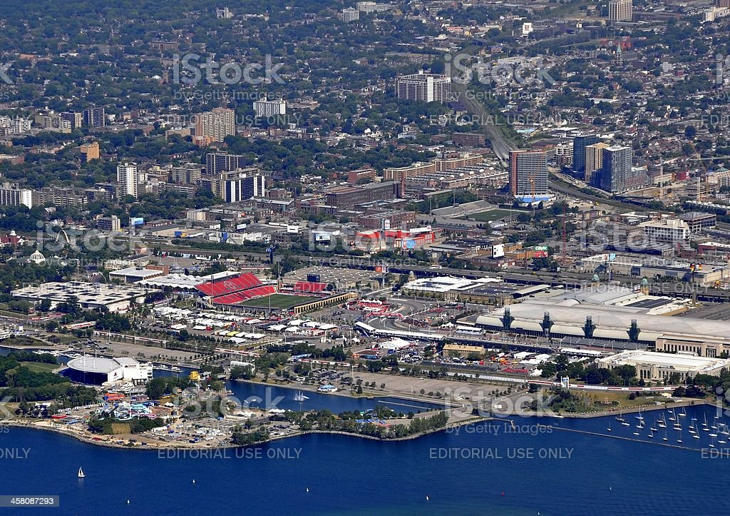 Honda Indy Toronto, aerial royalty-free stock photo