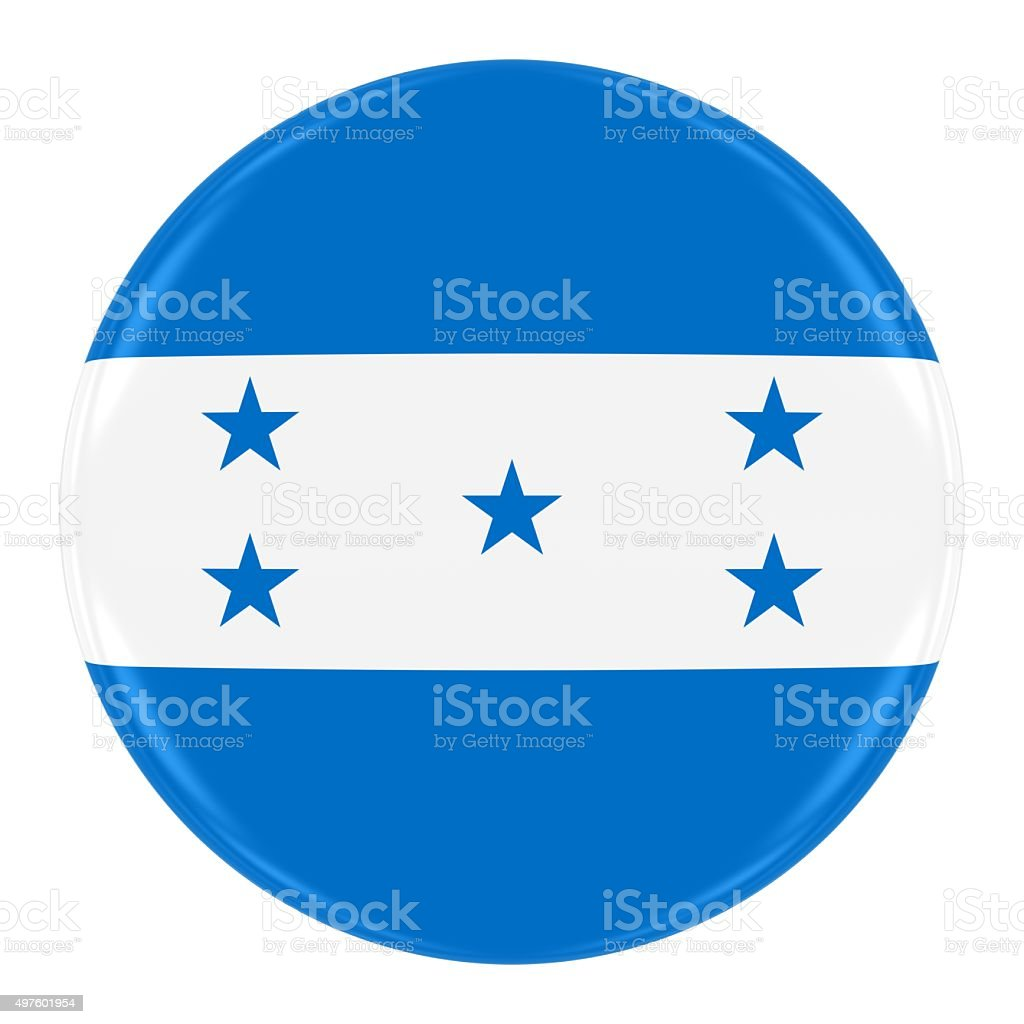 Honduran Flag Badge stock photo
