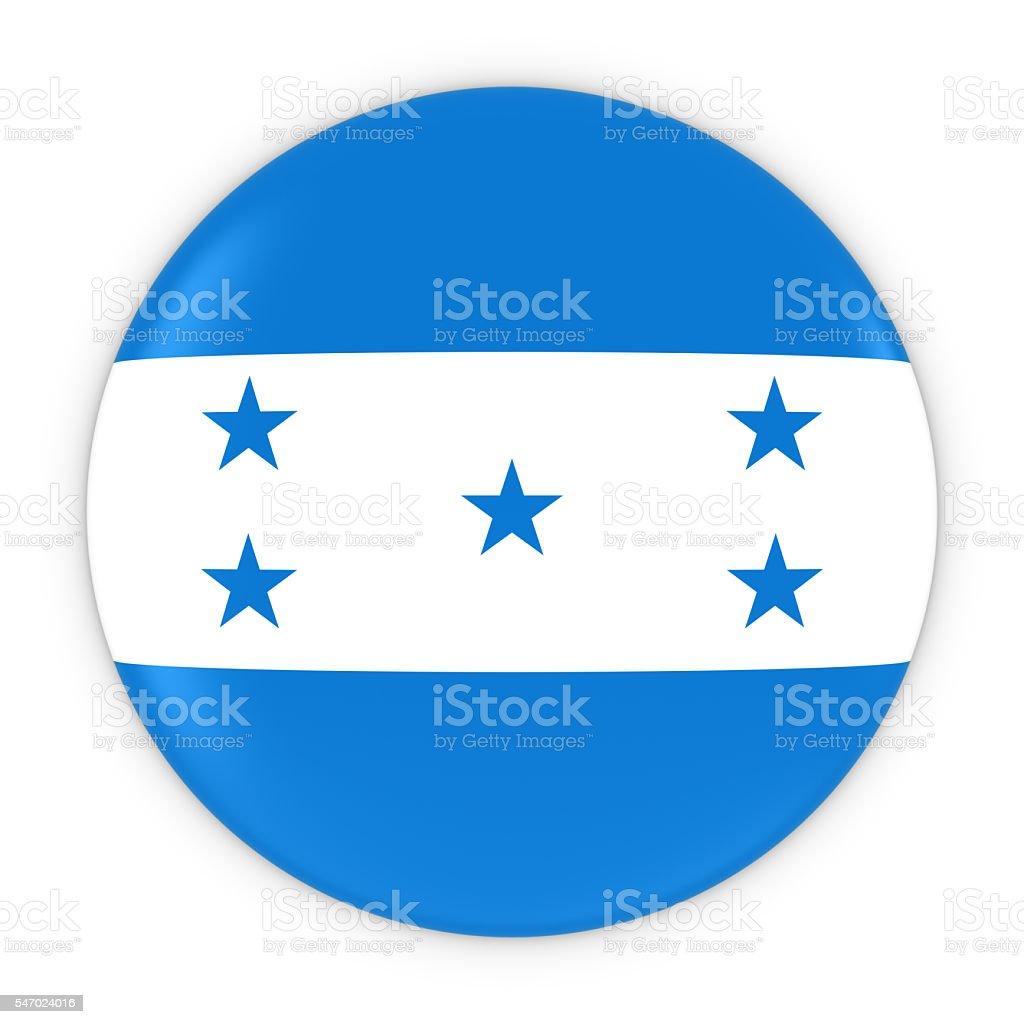 Honduran Flag Button - Flag of Honduras Badge 3D Illustration stock photo