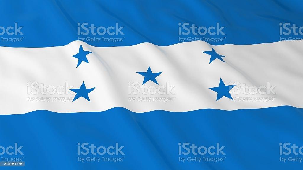 Honduran Flag HD Background - Flag of Honduras 3D Illustration stock photo