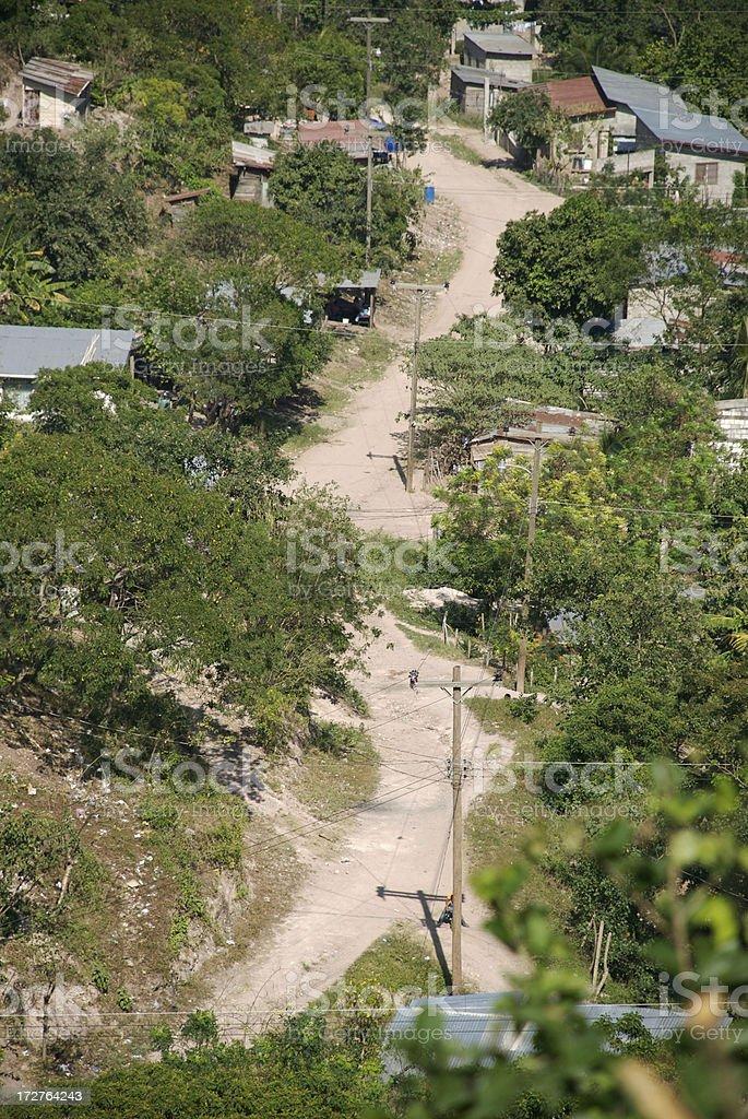 Honduran Village Road royalty-free stock photo