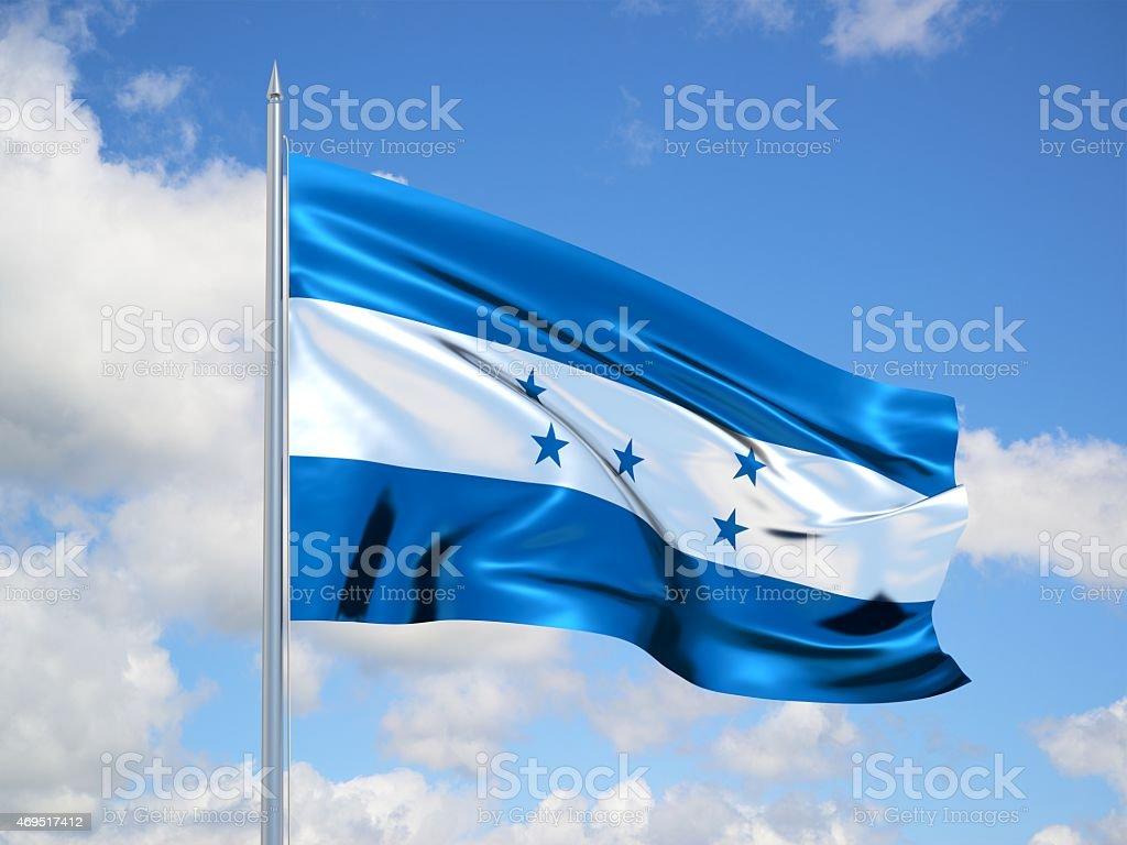 Honduras 3d flag stock photo