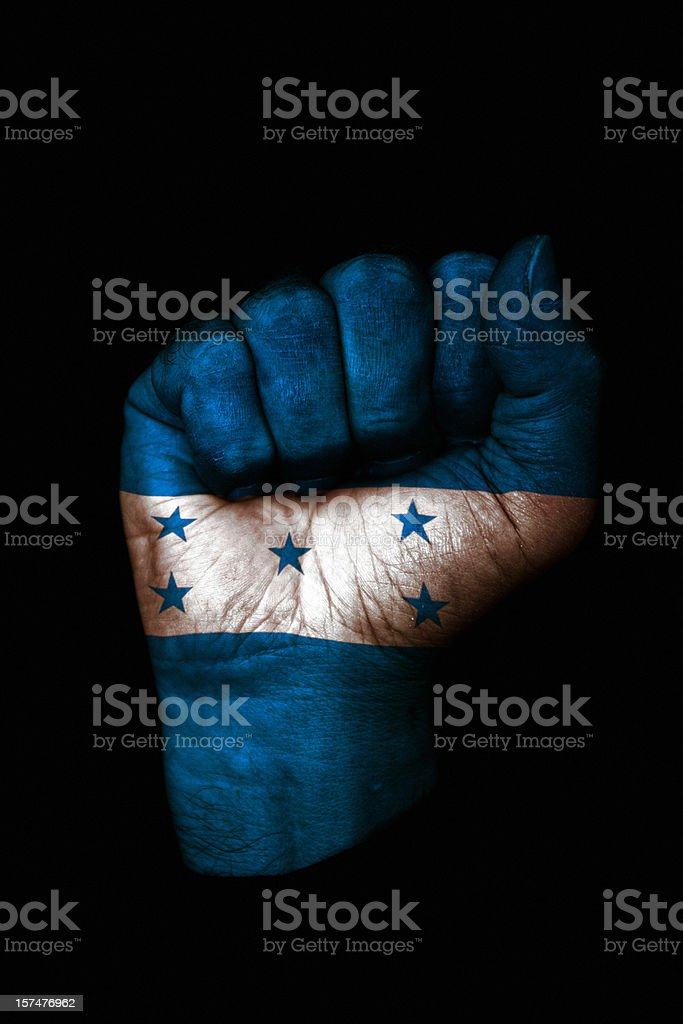 Honduras Fist stock photo