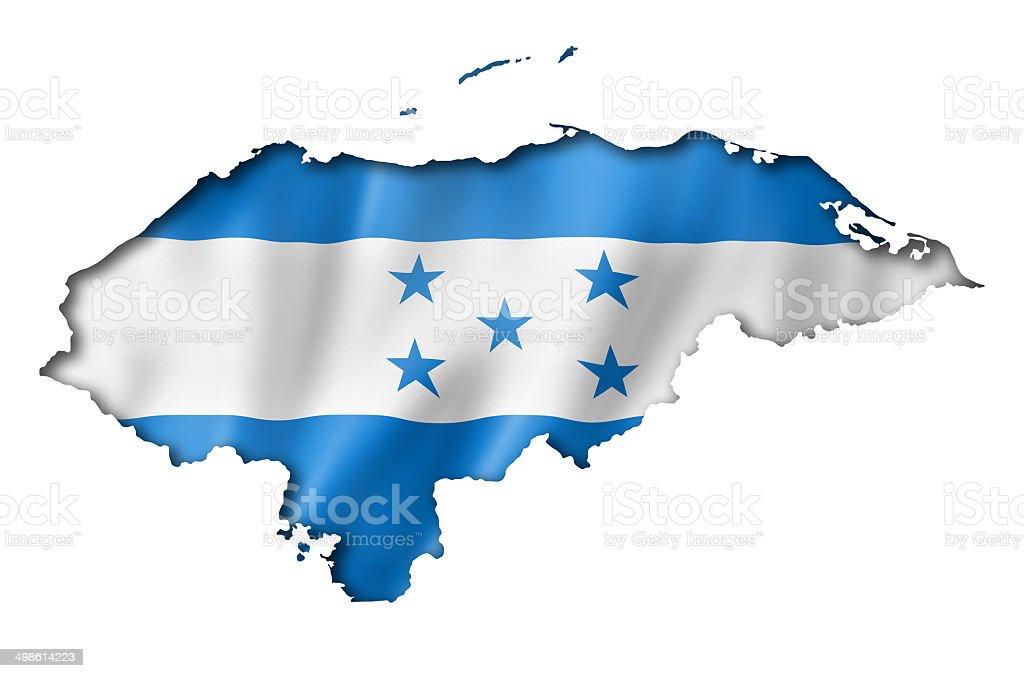 Honduras flag map stock photo