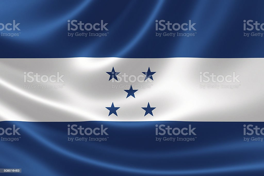 Honduras' Flag stock photo