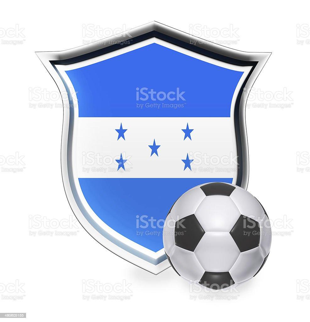 Honduras Flag with Soccer Ball stock photo