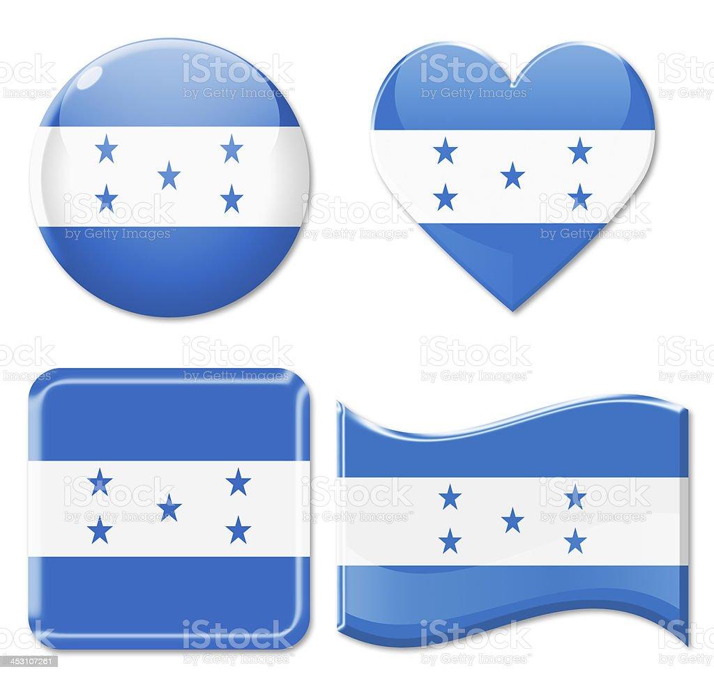 Honduras Flags & Icon Set stock photo
