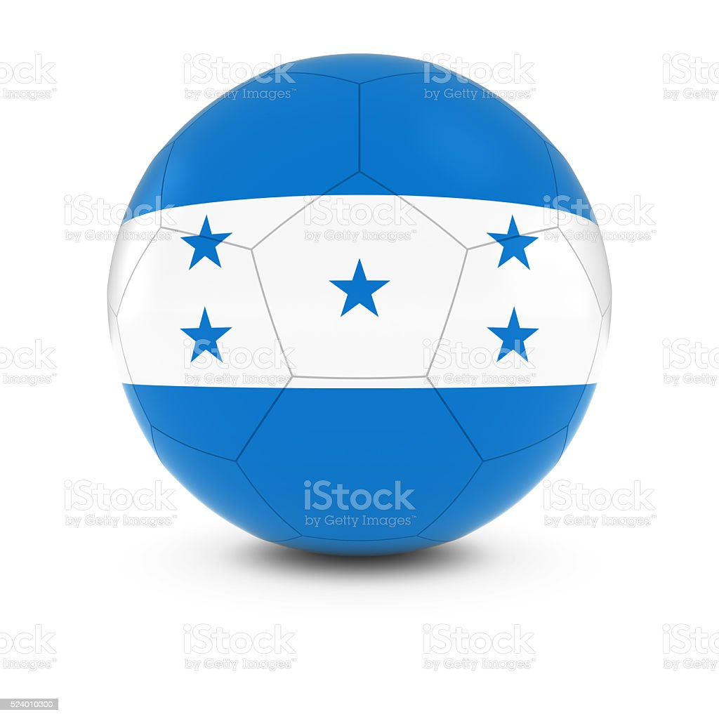 Honduras Football - Honduran Flag on Soccer Ball stock photo