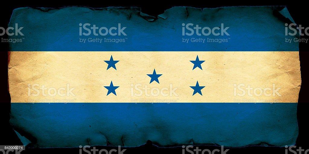 Honduras grunge flag stock photo