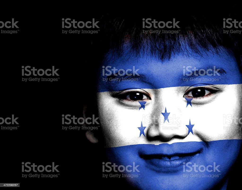 Honduras kid ready for FIFA World Cup stock photo