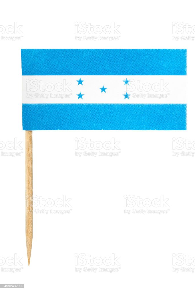 Honduras paper flag stock photo