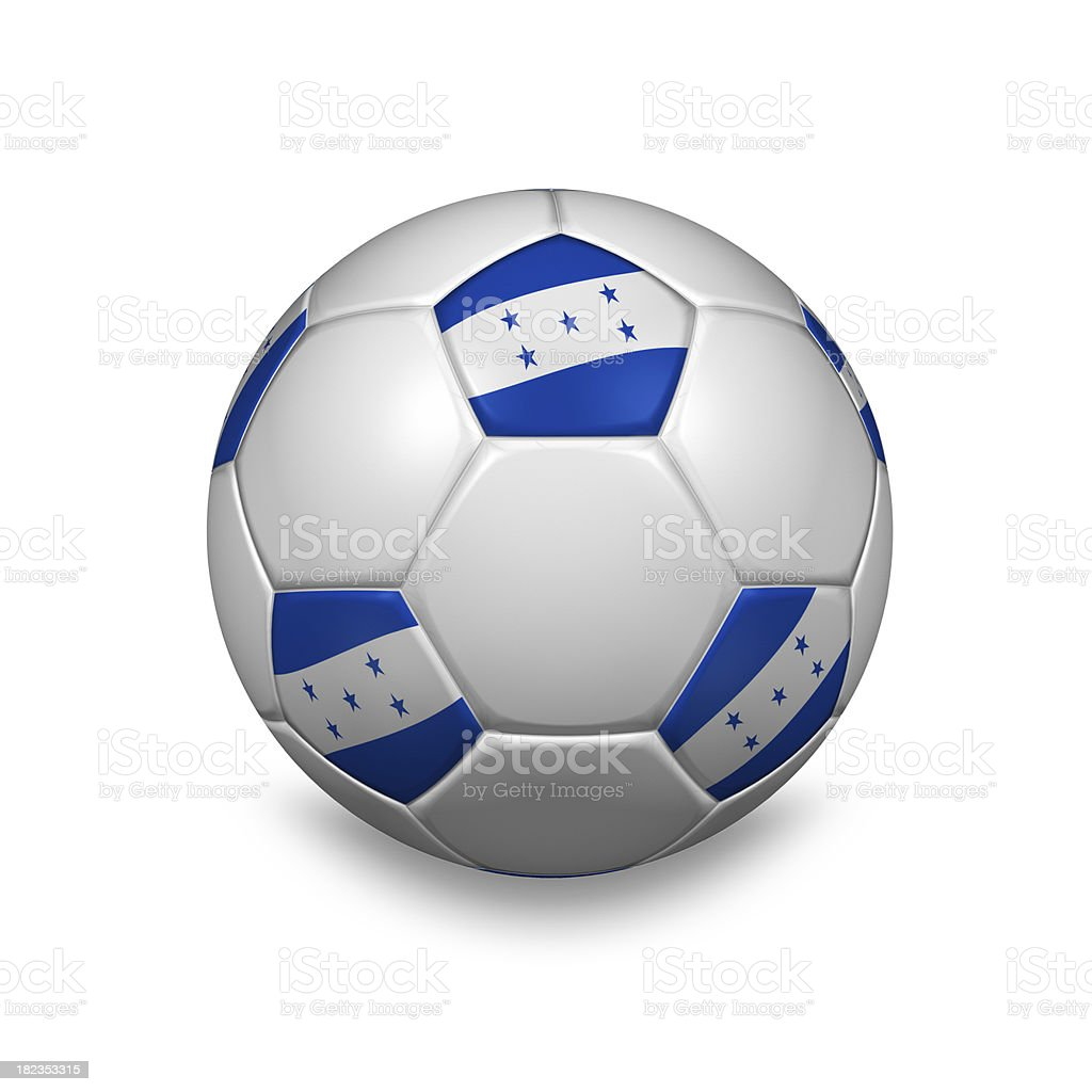 honduras soccer ball stock photo