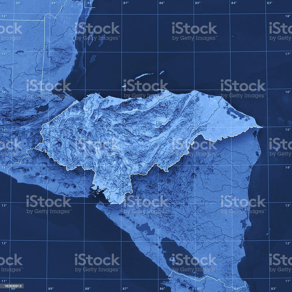 Honduras Topographic Map royalty-free stock photo