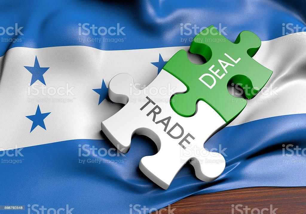 Honduras trade deals and international commerce concept, 3D rendering stock photo