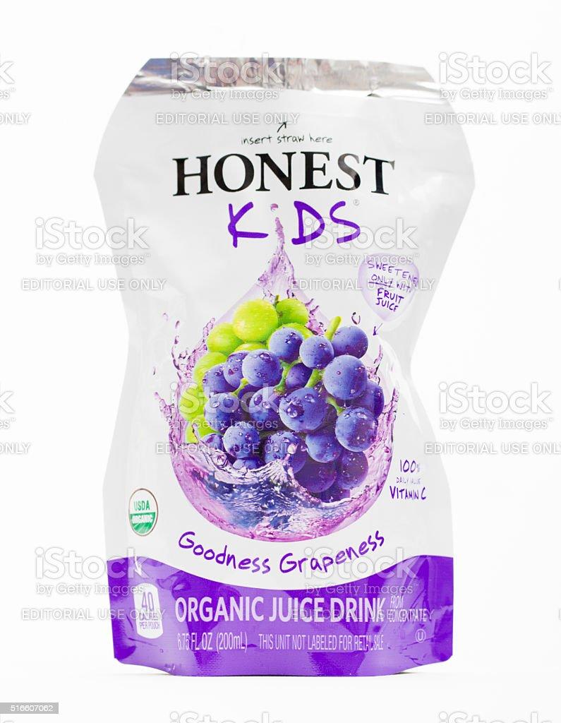 Honest Kids Juice Pouch stock photo